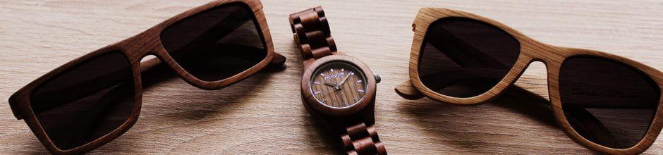 Holz Armbanduhr Square Maple ~ Sonnenbrillen und Armbanduhren aus Holz, Kork Geldbeutel