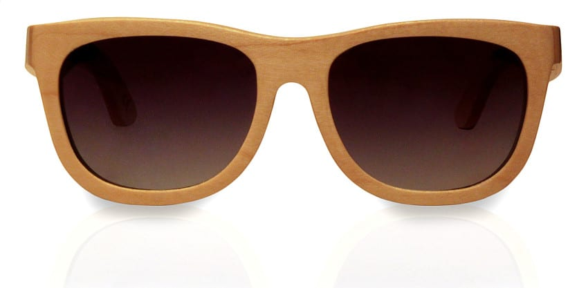 Holzsonnenbrille Skateboard Jump