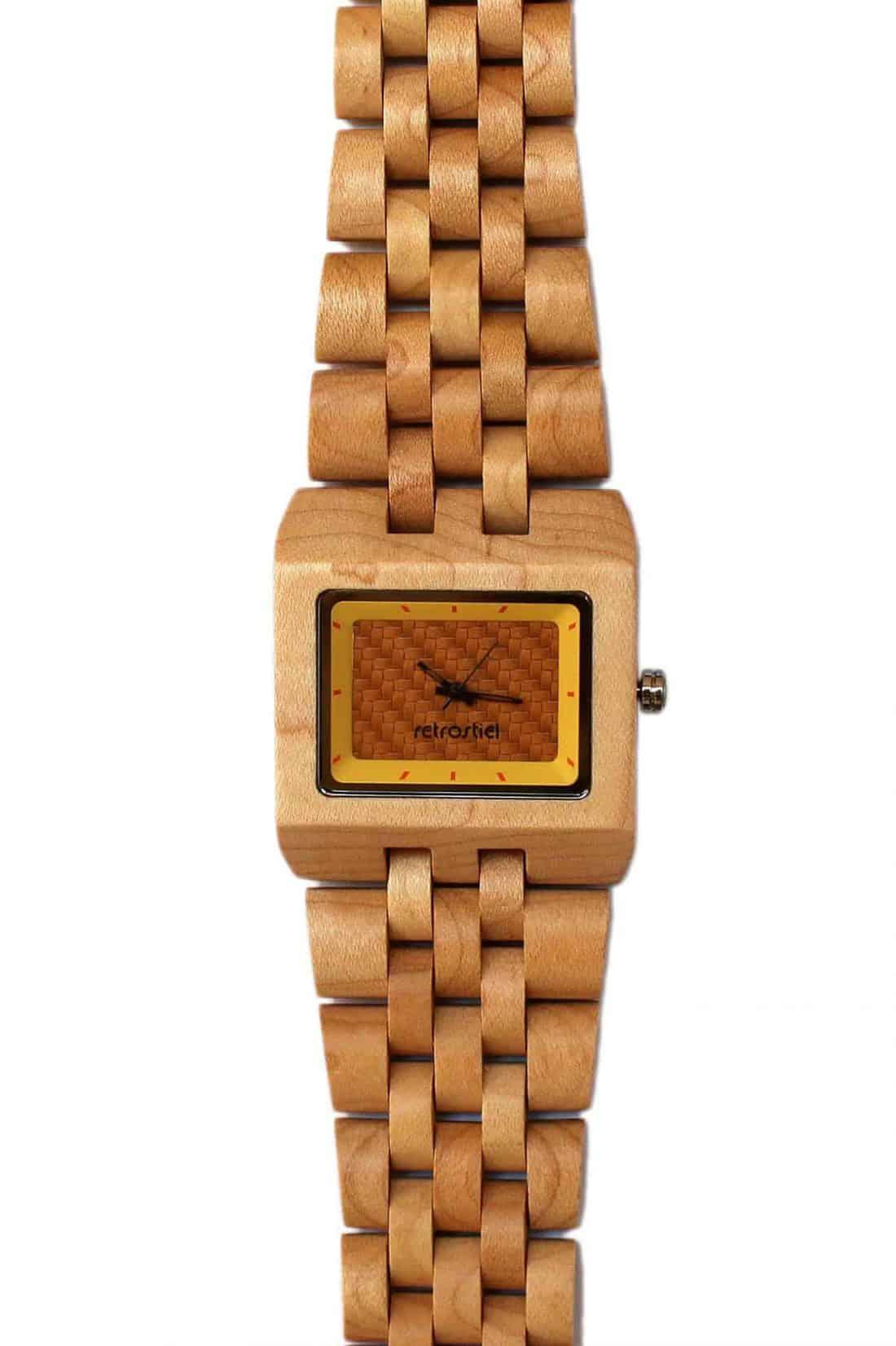 Holzarmbanduhr Square Maple