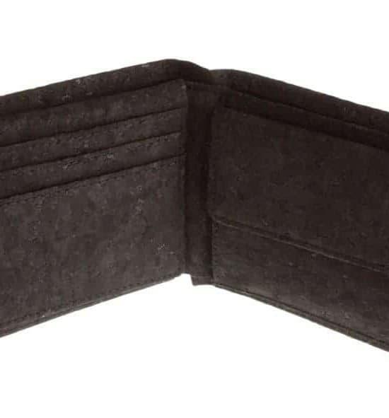 Geldbeutel aus Kork Black