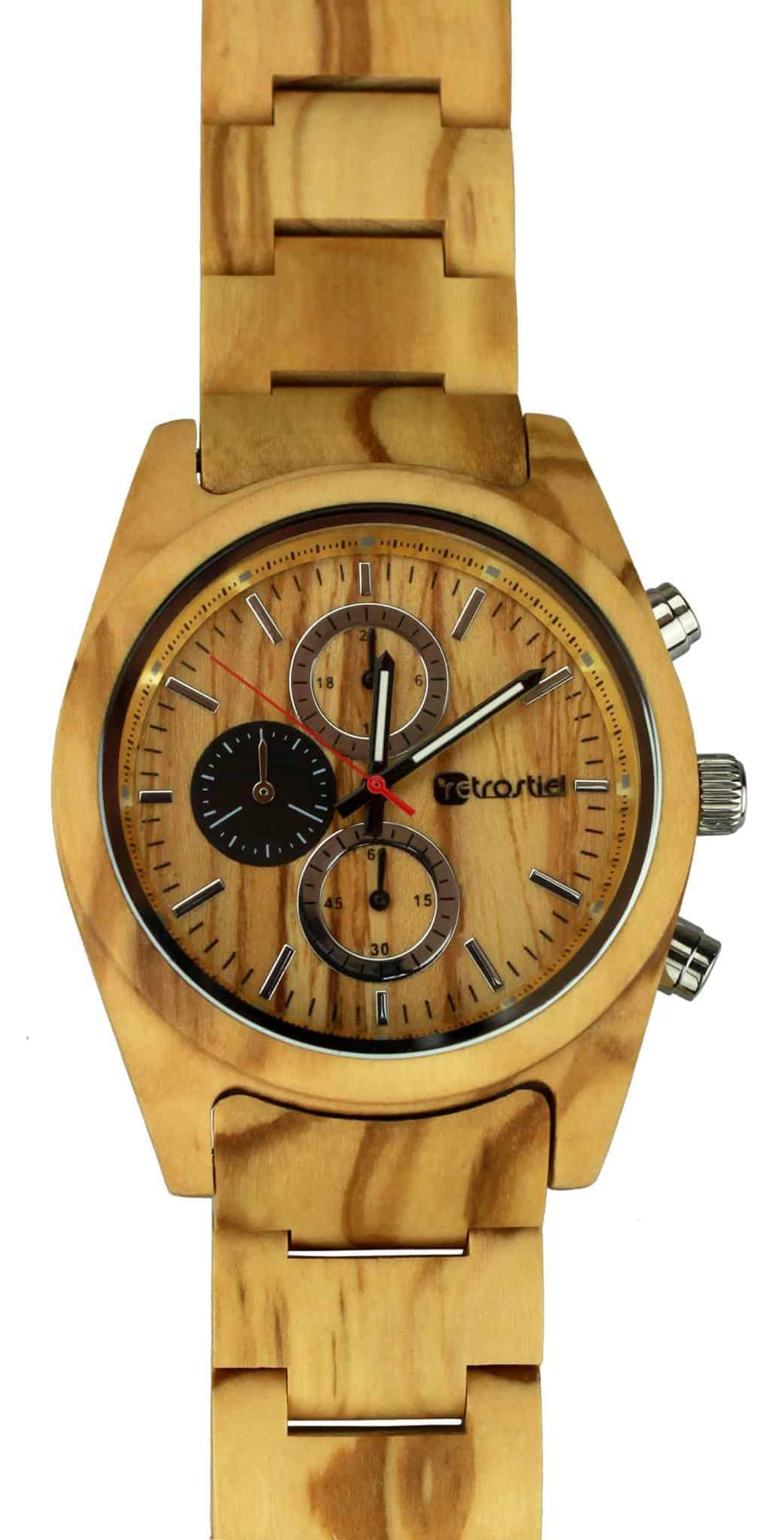 Armbanduhr aus Holz - Niagara Olive
