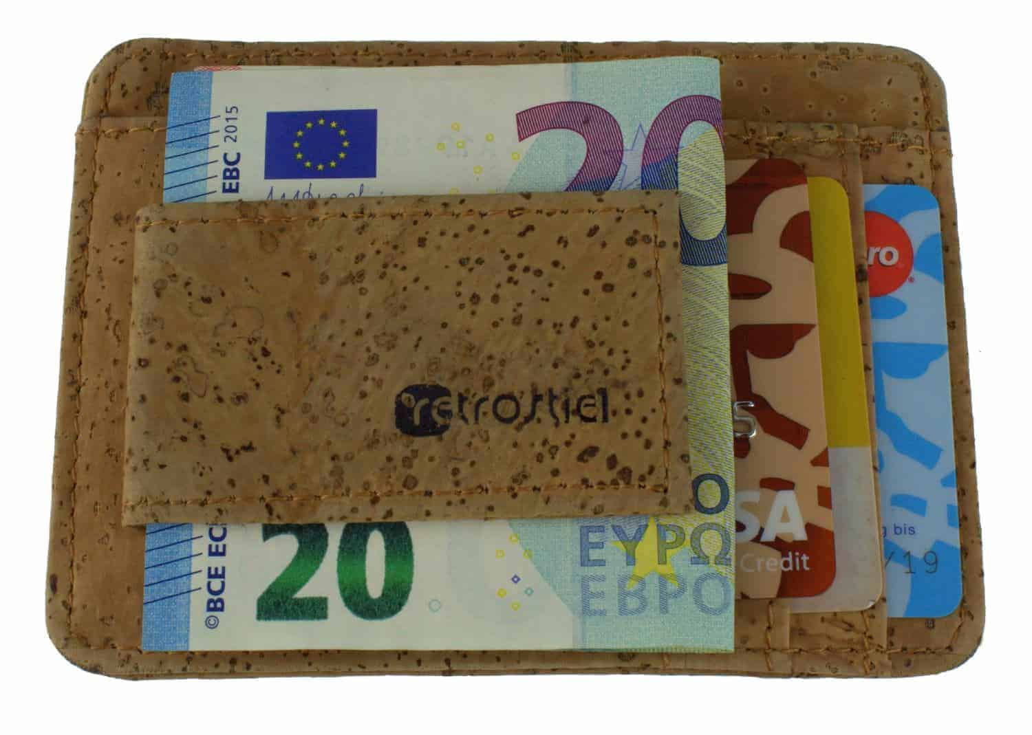 Moneyclip aus Kork (Nature)