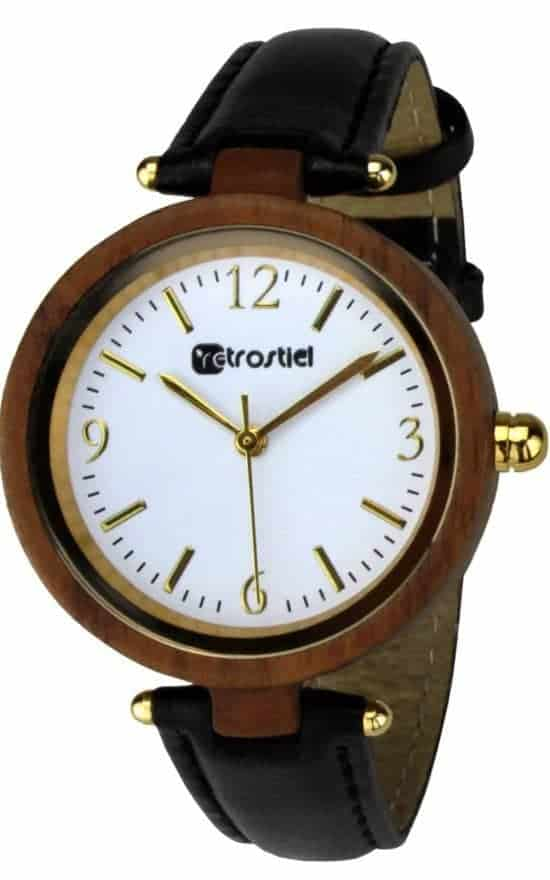 Wooden watch - Venezia Nut-Leather