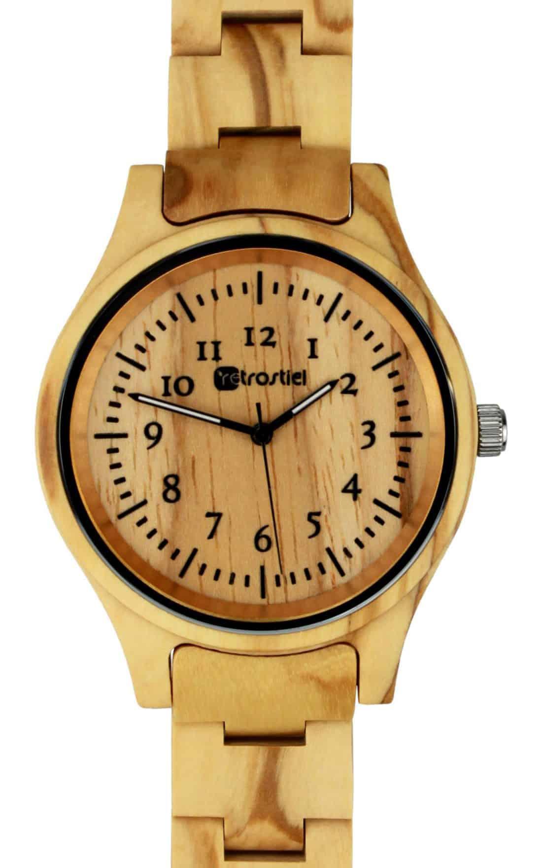 Wooden Watch - Pompeji Olive