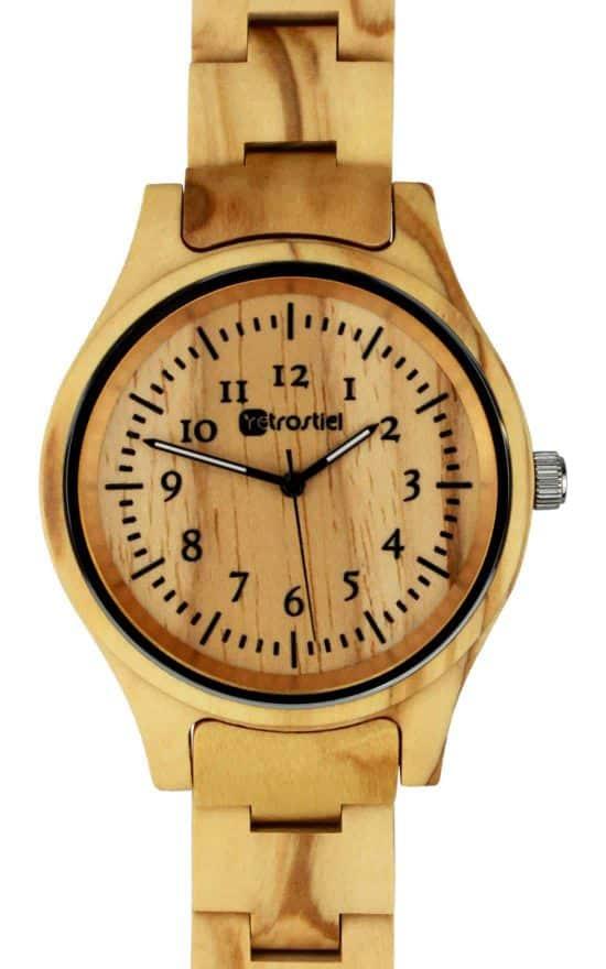 Armbanduhr aus Holz Pompeji Olive