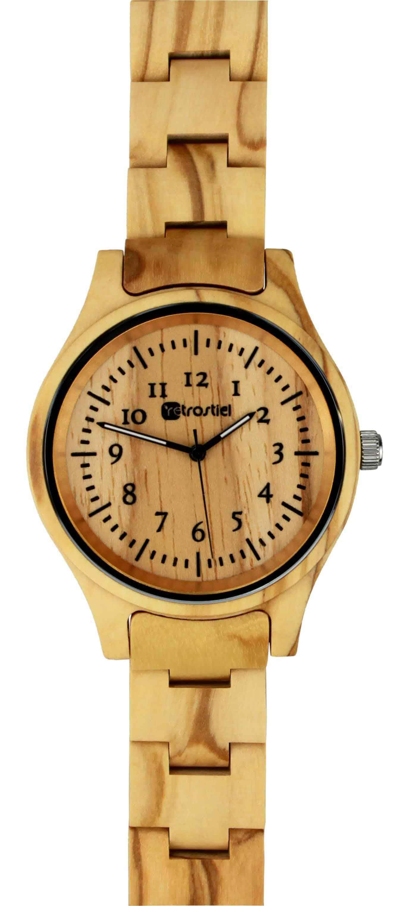 Armbanduhr aus Holz - Pompeji Olive