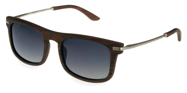 Holzsonnenbrille Driver Chrome
