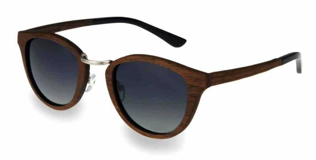 Holz Sonnenbrille Sweetheart Chrome Nut
