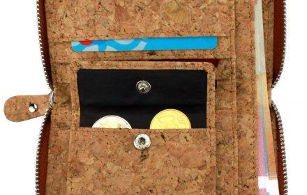 Kork Geldbörse Mini offen