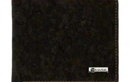 Cork Wallet Black & White closed