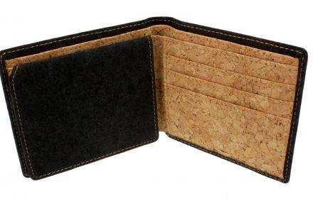 Cork Wallet Black & White